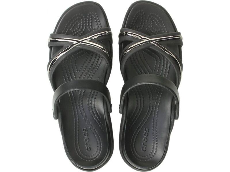 Crocs™ Meleen Metal Block XBand Sandal Gunmetal/Black