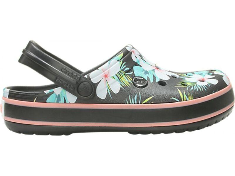 69a1ee8b68ea ... Crocs™ Crocband Seasonal Graphic Clog Black Floral ...