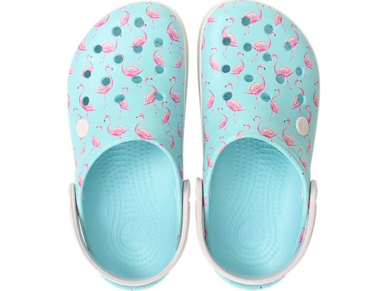 Crocs™ Crocband Seasonal Graphic Clog Ice Blue/Pink