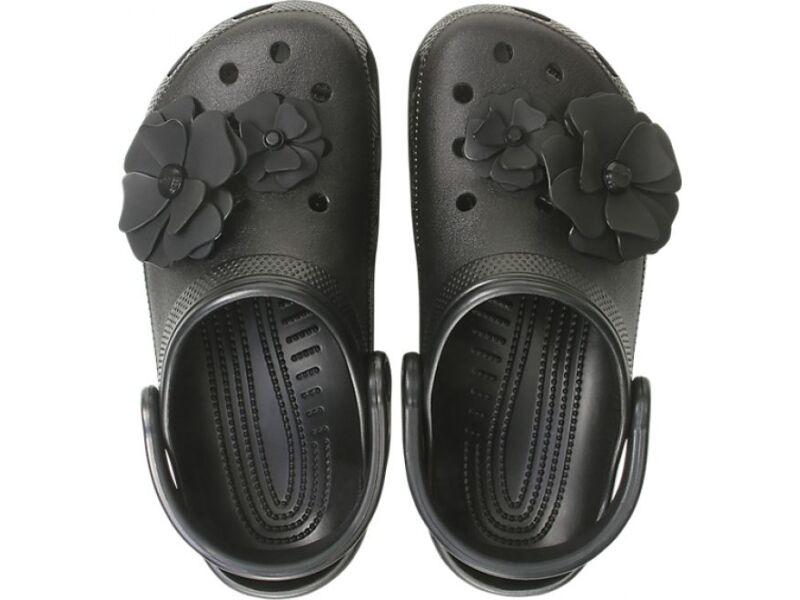 Crocs™ Classic Vivid Blooms Clog Black