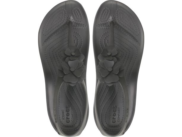 Crocs™ Serena Embellish Flip Women's Black/Black