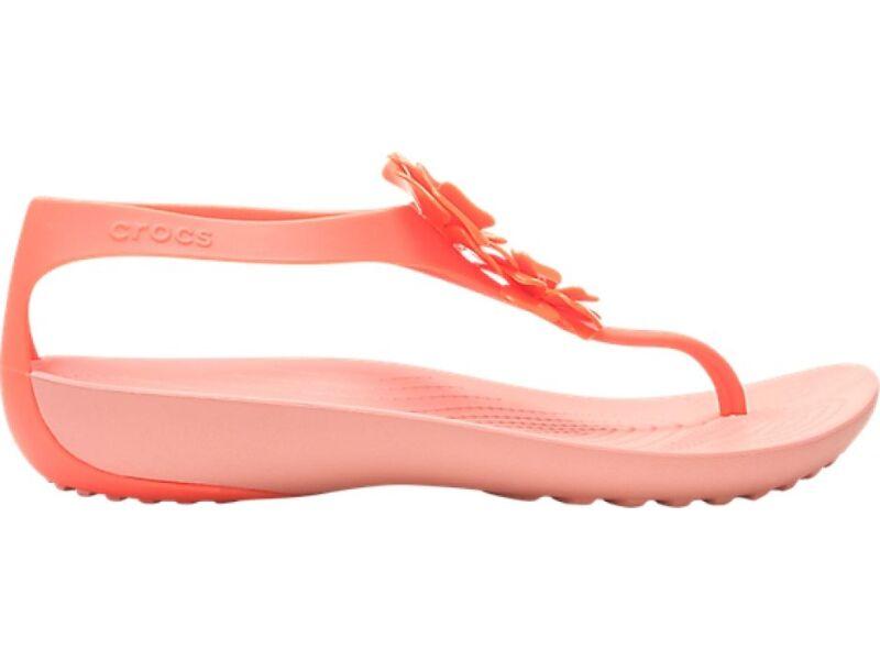Crocs™ Serena Embellish Flip Women's Bright Coral/Melon