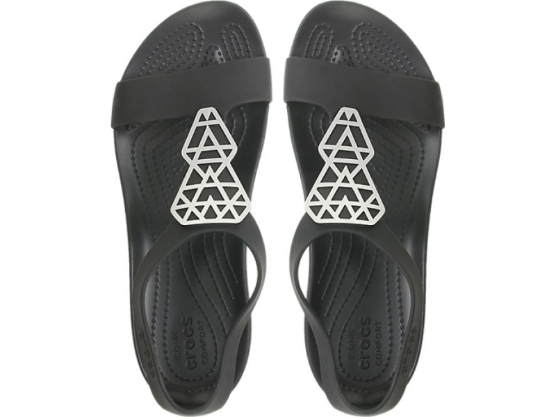 Crocs™ Serena Embellish Sandal Women's Silver/Black