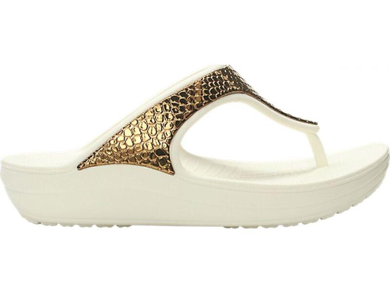 Crocs™ Sloane Metal Txt Flip Women's Bronze/Oyster