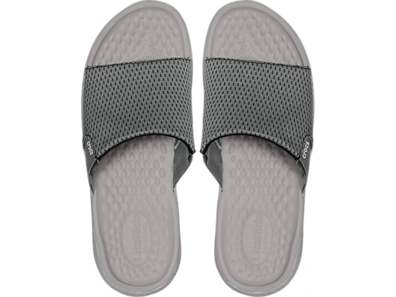 Crocs™ LiteRide Mesh Slide Men's Smoke/Pearl White