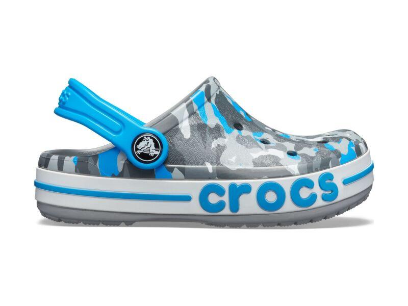 Crocs™ Bayaband Seasonal Graphic Clog Kid's Light Grey