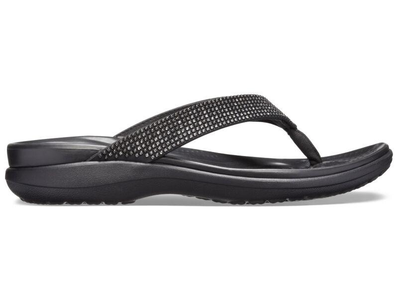 Crocs™ Capri V Diamante Flip Women's Black Ombre/Black