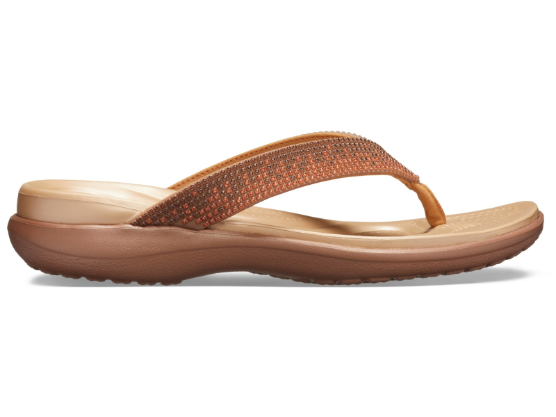 Crocs™ Capri V Diamante Flip Women's Melon Ombre/Bronze