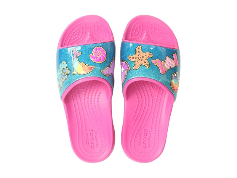 Crocs™ Funlab BeachFun Slide Kid's Fuchsia