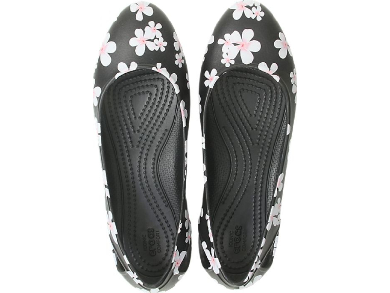 Crocs™ Laura Seasonal Flat Women's Tropical Floral/Black