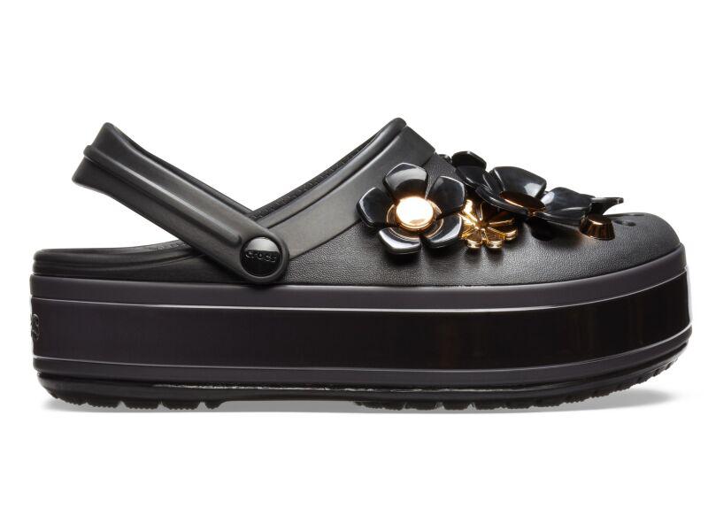 Crocs™ CB Platform Metallic Blooms Clog Black