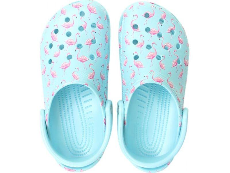 Crocs™ Classic Seasonal Graphic Clog Ice Blue/Pink