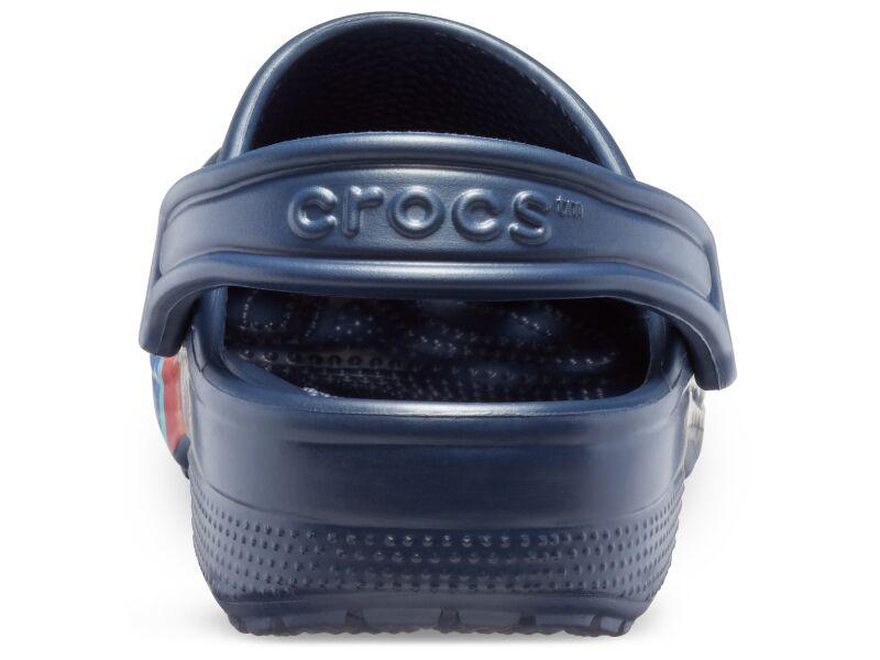 Crocs™ Classic Seasonal Graphic Clog Navy/Multi