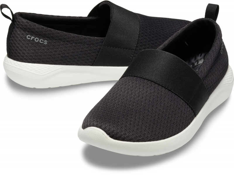 Crocs™ LiteRide Mesh Slip-On Women's Black/White