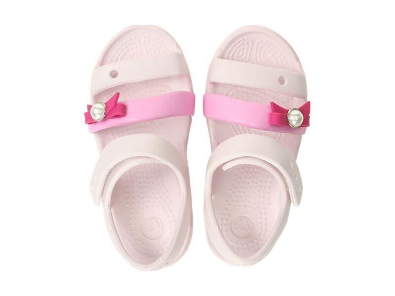 Crocs™ KEELEY CHARM SANDAL KID'S Barely Pink