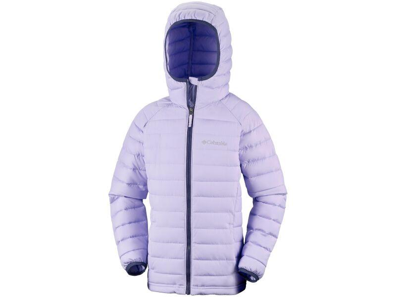 Columbia Powder Lite Girls Hooded Jacket Soft Violet