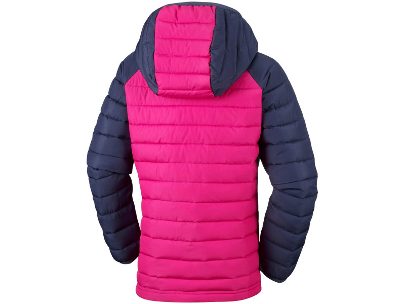 Columbia Powder Lite Girls Hooded Jacket Cactus Pink/Nocturnal