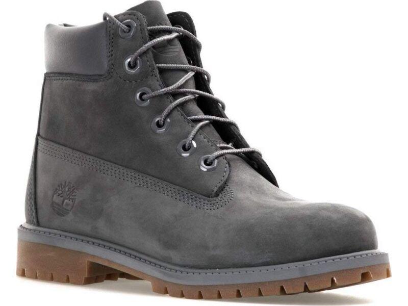 Timberland 6 In Premium Boot Junior's Dark Grey Nubuck