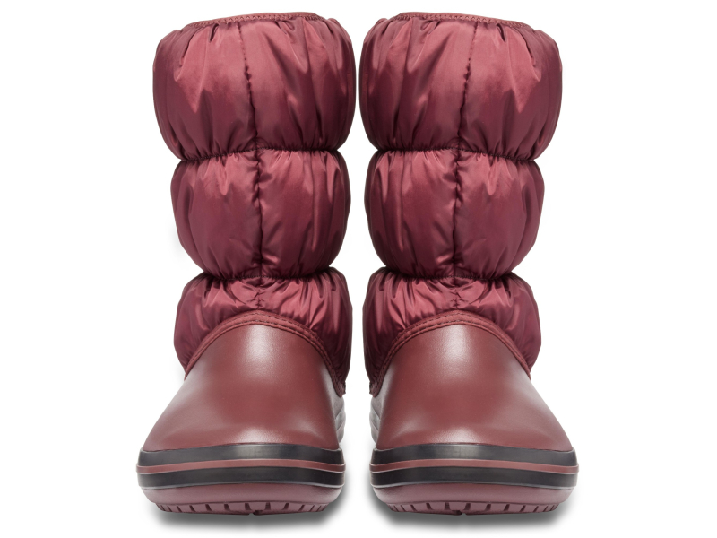 Crocs™ Winter Puff Boot Burgundy/Black