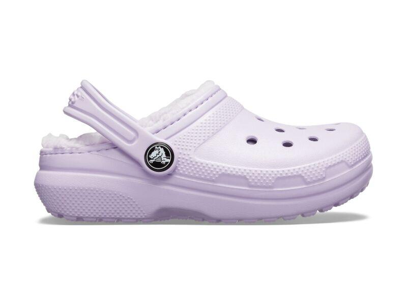 Crocs™ Kids' Classic Lined Clog Lavender/Lavender