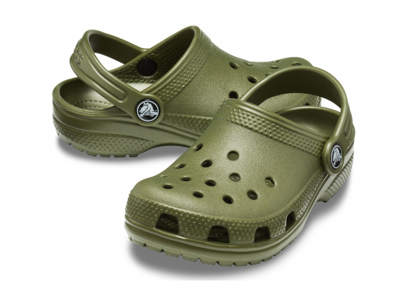 Crocs™ Kids' Classic Clog Army Green