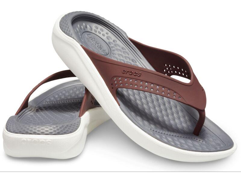 Crocs™ LiteRide Flip Burgundy/White