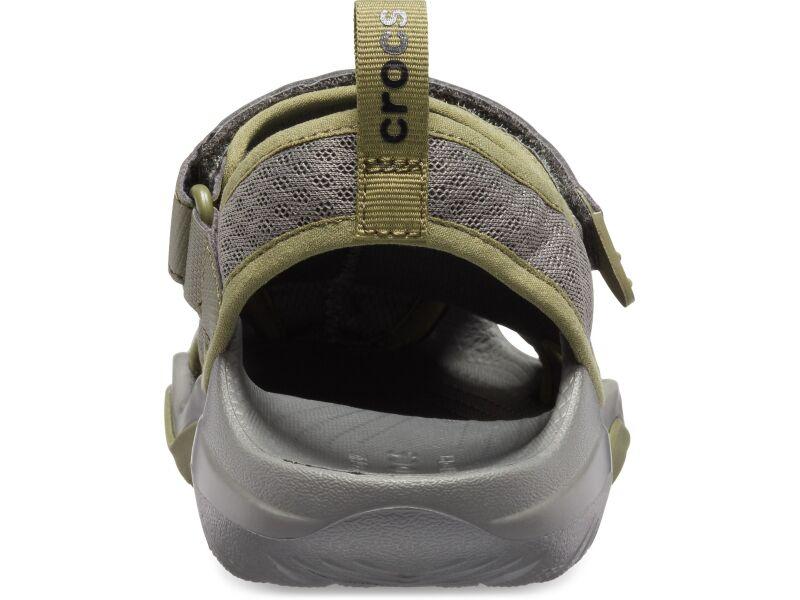 Crocs™ Swiftwater Mesh Deck Sandal Men's Slate Grey