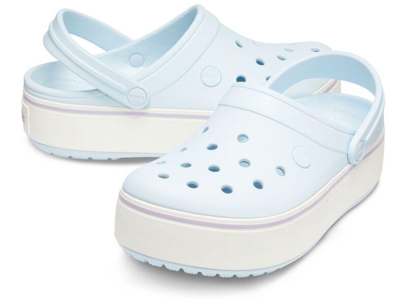 Crocs™ Crocband Platform Clog Mineral Blue/Lavender