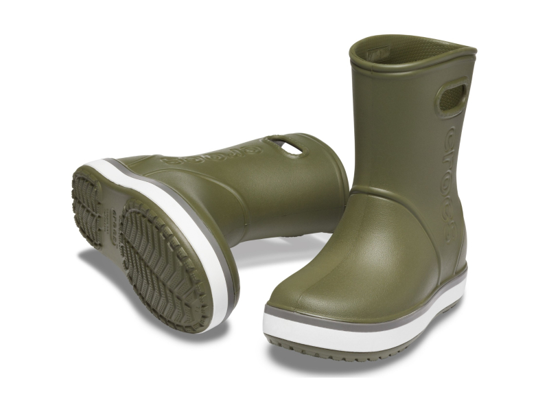 Crocs™ Crocband Rain Boot Kid's Army Green/Slate Grey