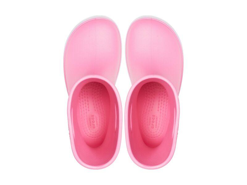 Crocs™ Crocband Rain Boot Kid's Pink Lemonade/Lavender