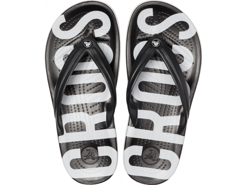 Crocs™ Crocband Printed Flip Black/White