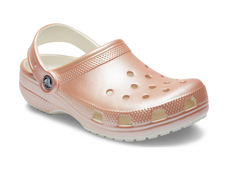Crocs™ Classic Metallic Clog Kid's Rose Gold
