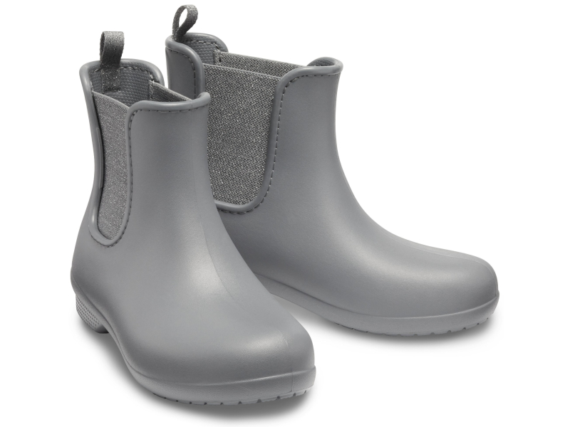 Crocs™ Freesail Mt Chelsea Boot Women's Metallic Charcoal