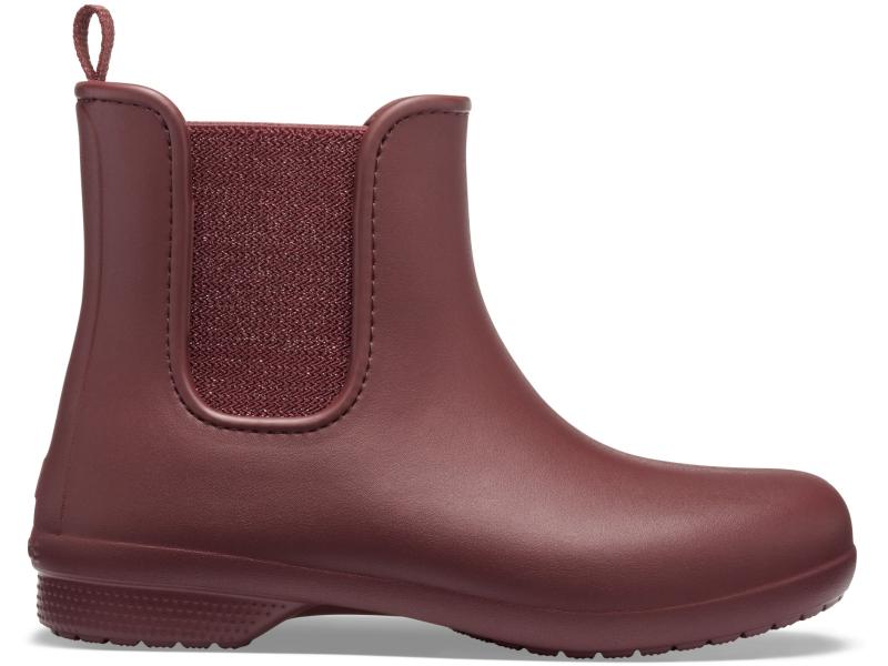 Crocs™ Freesail Mt Chelsea Boot Women's Metallic Burgundy