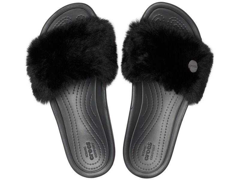 Crocs™ Crocs Sloane Luxe Slide Women's Black/Black