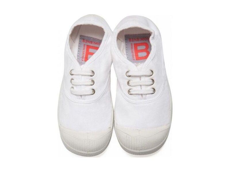 BENSIMON Tennis Lacet Enfant White