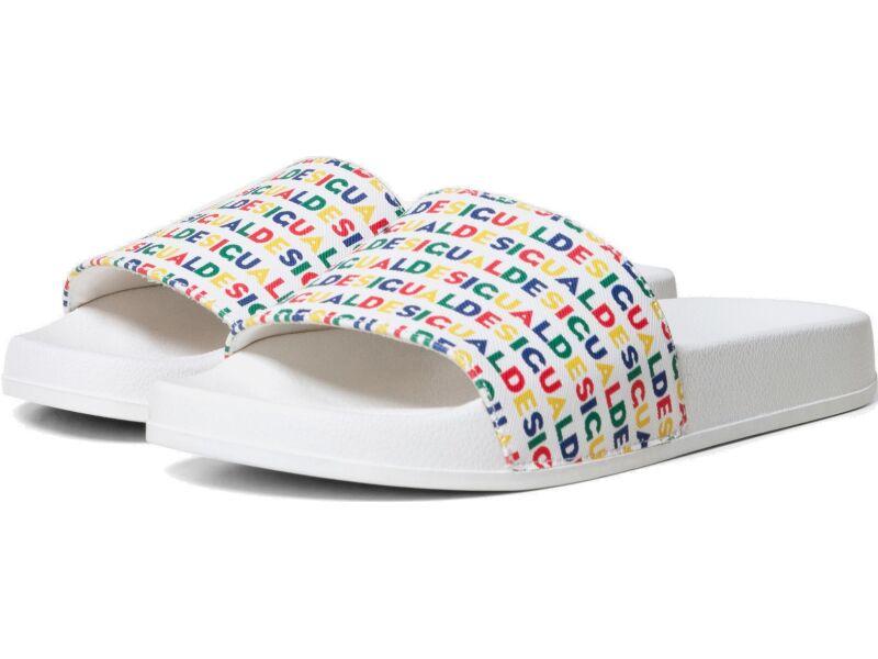 Desigual Slide Logomania Blanco