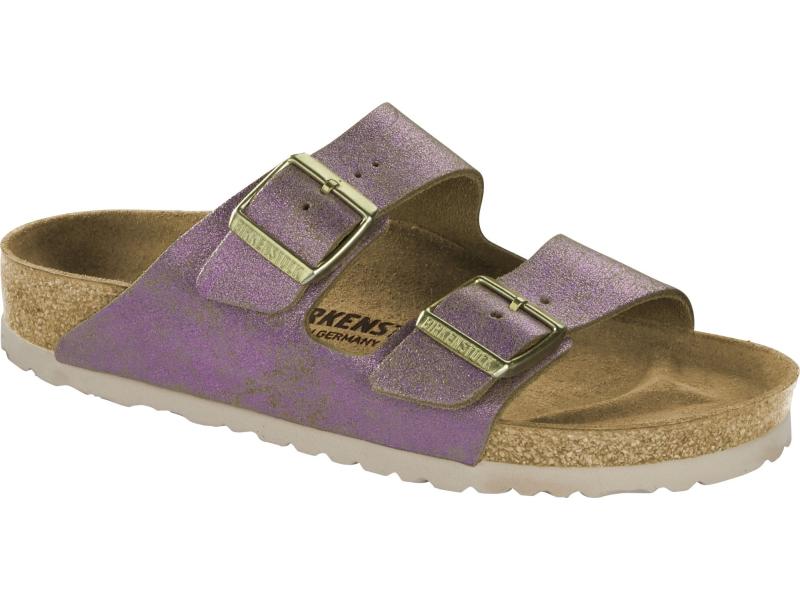 Birkenstock Arizona Washed Metallic Pink