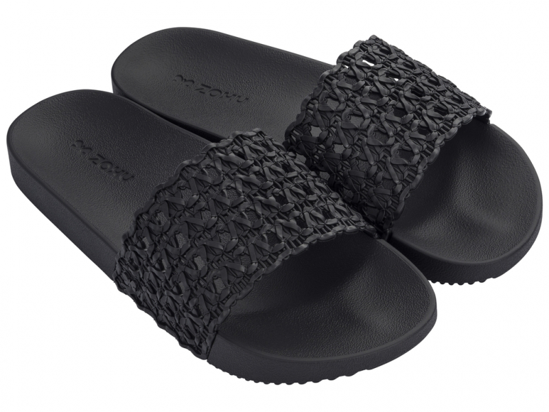 ZAXY Snap Mesh Slide 17669 Black