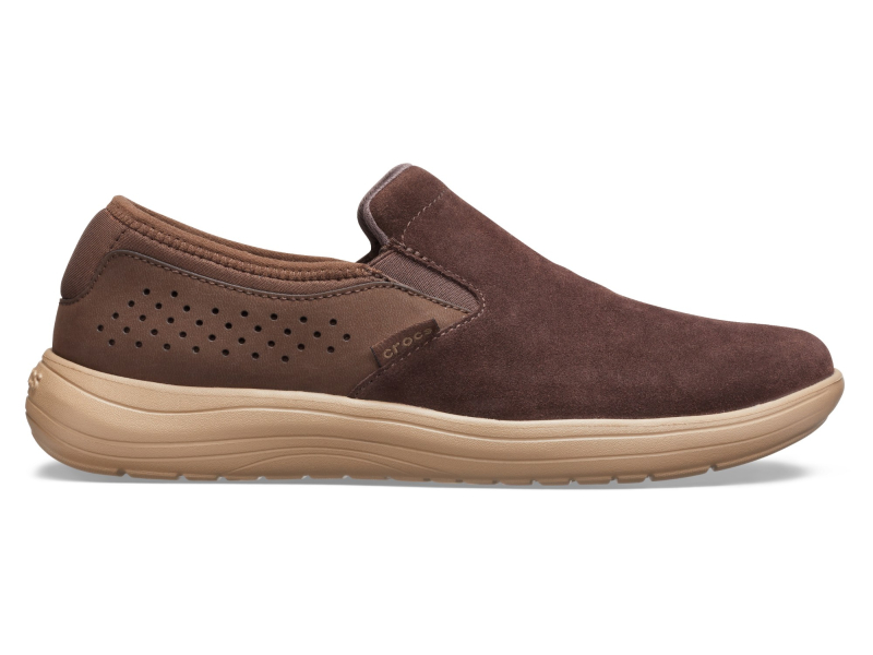 Crocs™ Reviva Suede Slip-On Men's Espresso/Khaki