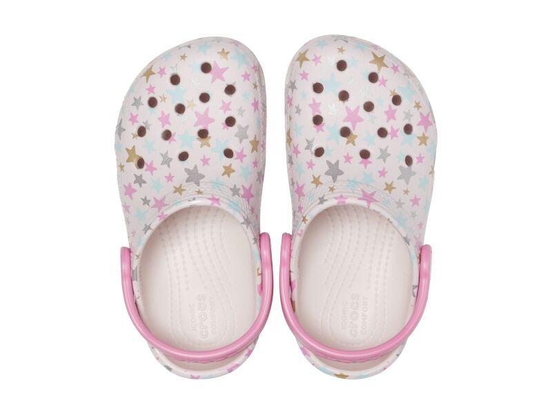 Crocs™ Classic Printed Clog Kid's Barely Pink