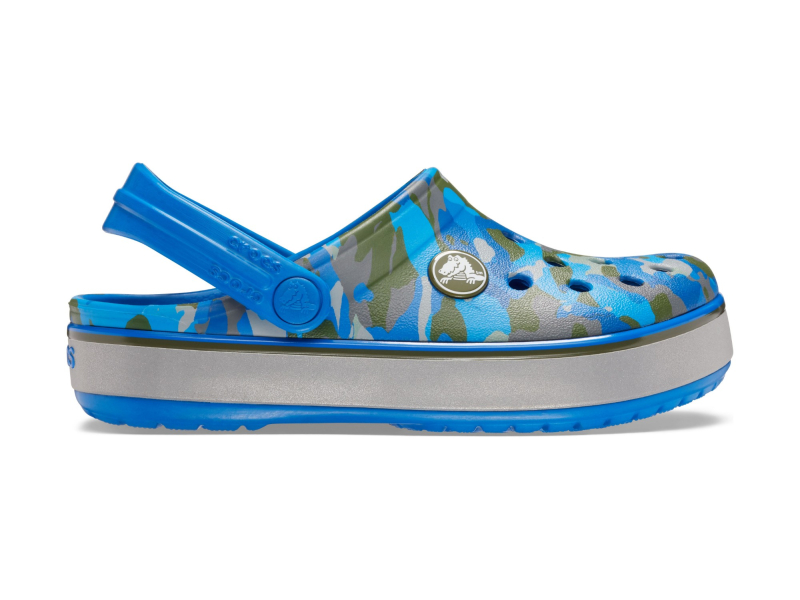 Crocs™ Crocband Camo Reflect Band Clog Kid's Bright Cobalt