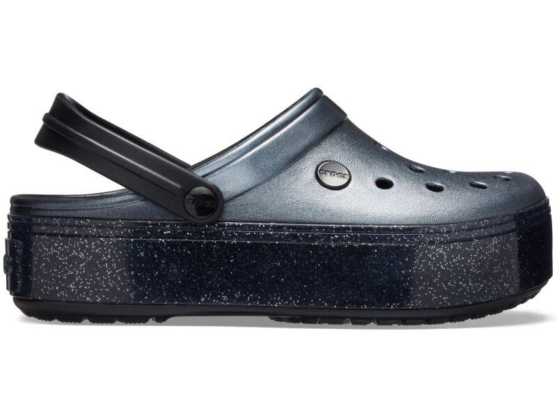 Crocs™ Crocband Platform Metallic Clog Metallic Black