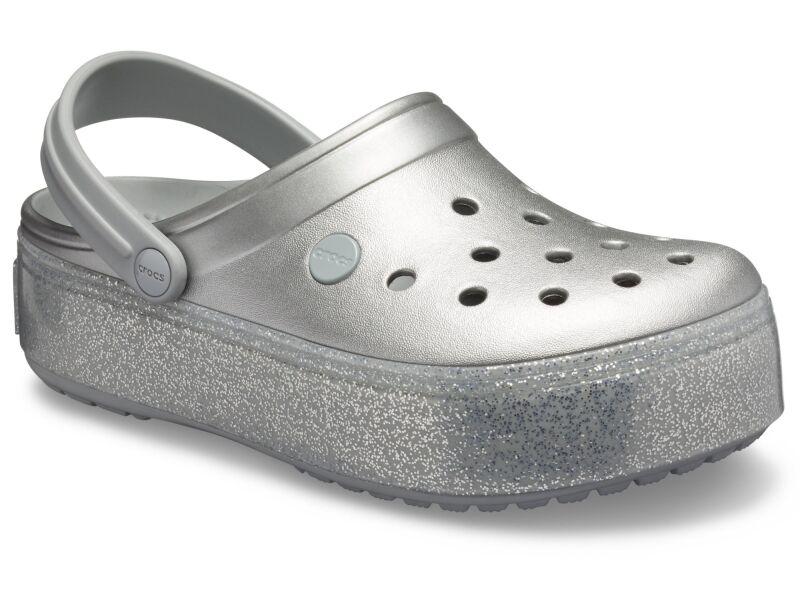 Crocs™ Crocband Platform Metallic Clog Metallic Silver