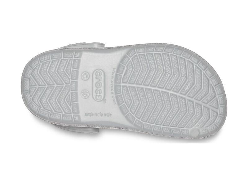 Crocs™ Crocband Glitter Clog Kid's Silver