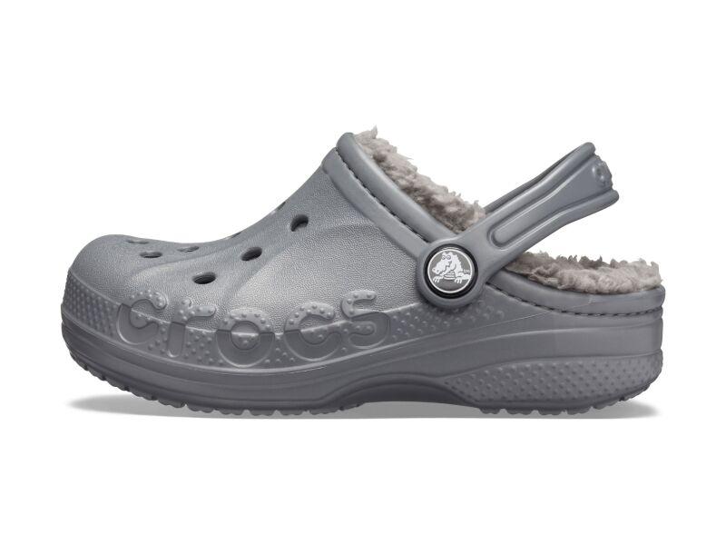 Crocs™ Baya Lined Clog Kid's Charcoal/Charcoal