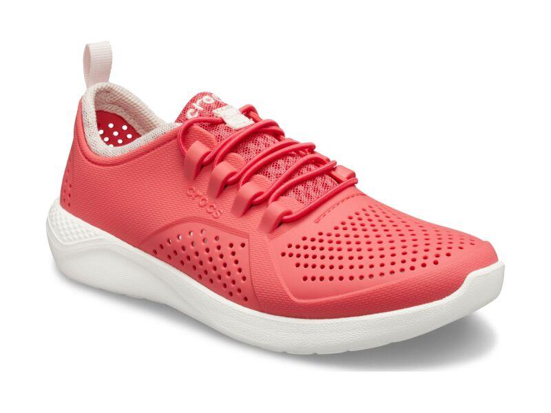 Crocs™ LiteRide Pacer Kid's Poppy/White
