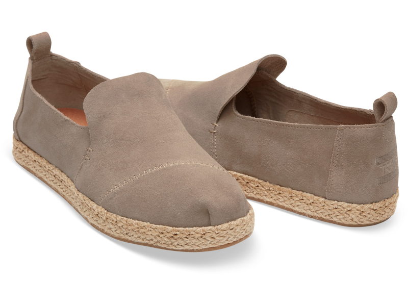 TOMS Suede Women's Deconstructed Alpargata Desert Taupe