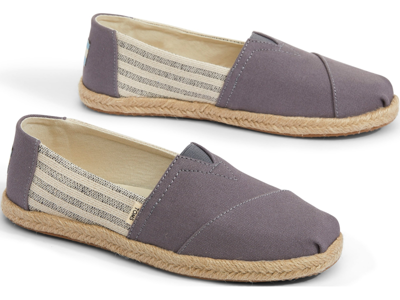 TOMS Canvas Ivy League on Rope Women's Alpargata Grey