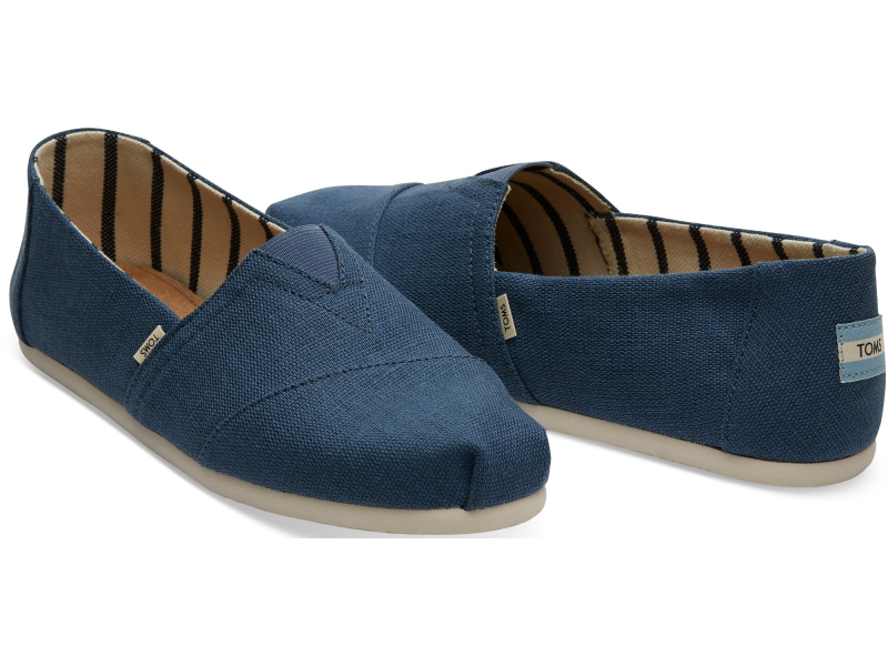 TOMS Heritage Canvas Men's Alpargata Airforce Blue